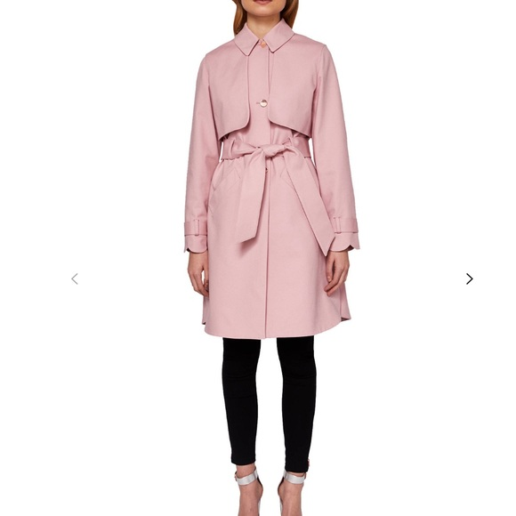 1716a16b906559 Ted Baker Scallop Detail Trench Coat
